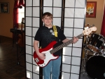 Ethan plays Bass and is a school band member.He has a great ear for music of all genres. I predict Ethan will be a highl