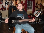 I feel like I have watched Chandler Madore literally 'grow up'. Here Chandler is pictured with his new Ibanez. Chandle