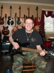 Ben Ezzy with his Ibanez. Ben has been playing for several years and is looking to improve his game. He is off to a grea