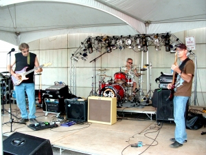 The Blue Daniel Band performing during 'Dance du Main Street, Acadian Festival'.