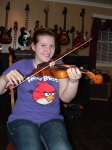 Emily Hebert and a smile that says it all! She is a flute player in band and loves the violin. Emily is a really natural